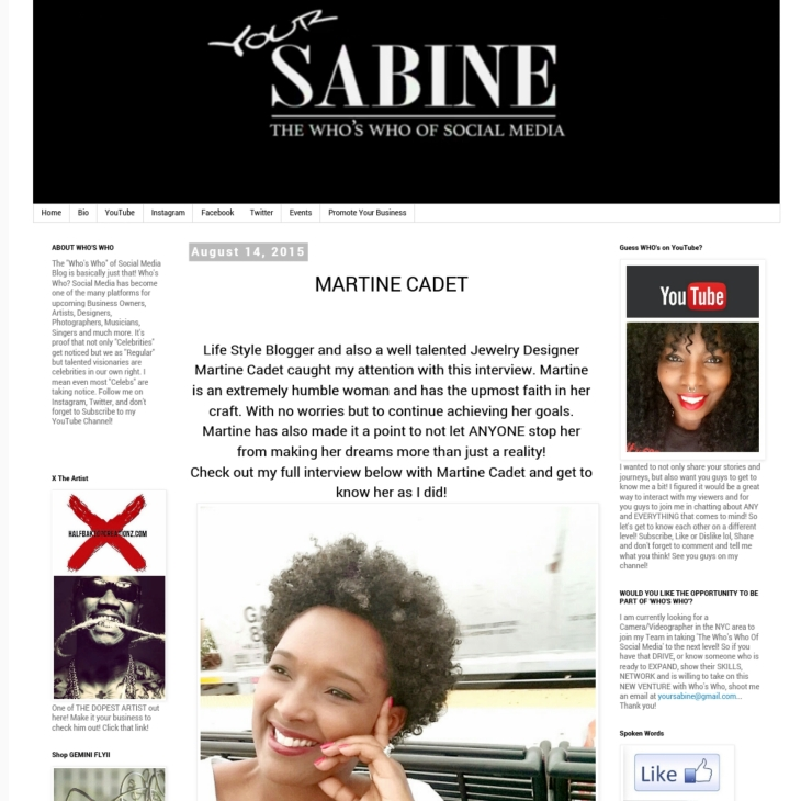 Interview with Blogger Your Sabine