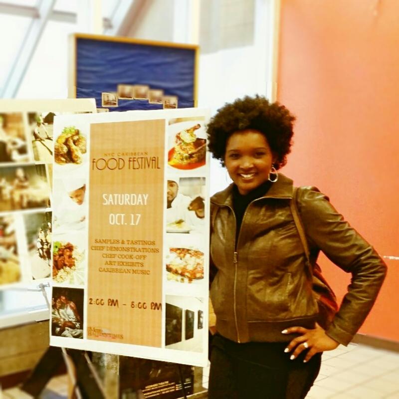A Caribbean Girl at a Caribbean FoodFestival